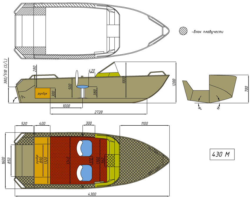 чертёж для - Wyatboat-430 M