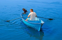 1 - Стеклопластиковая лодка Омуль