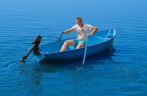 2 - Стеклопластиковая лодка Омуль
